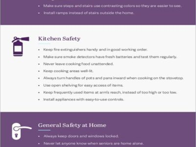 Safety Tips For Seniors Infographic
